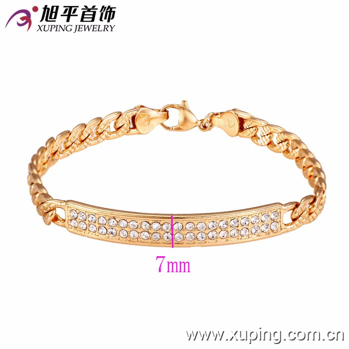 73034 Xuping new designed wholesale gold plated women bracelets