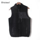 High quality warm solid color winter chest pocket sherpa fleece zipper up vest