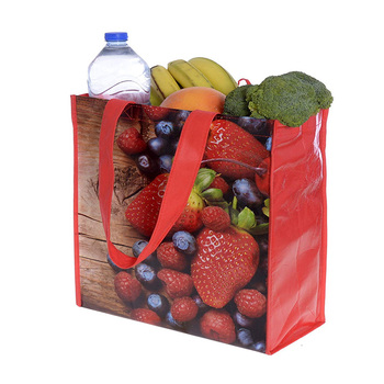 Promotional custom cheap printed image recyclable pp laminated non woven shopping bag