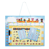 OEM Good Quality Multi-color Learning Magnetic Board for Children kids timetable