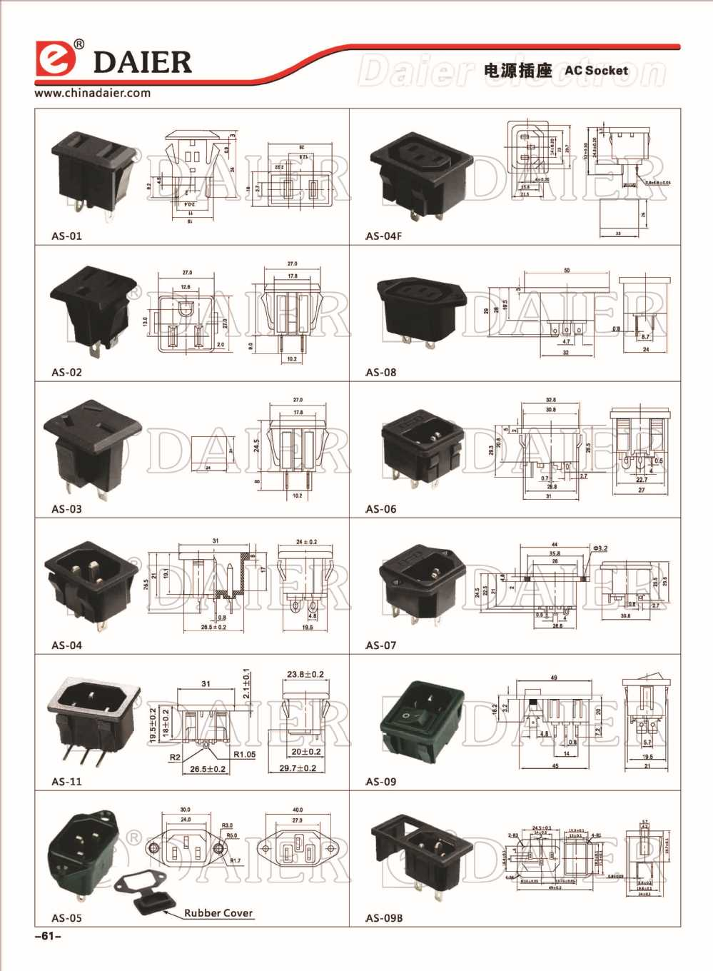 Universal Electrical Receptacle Types Electrical