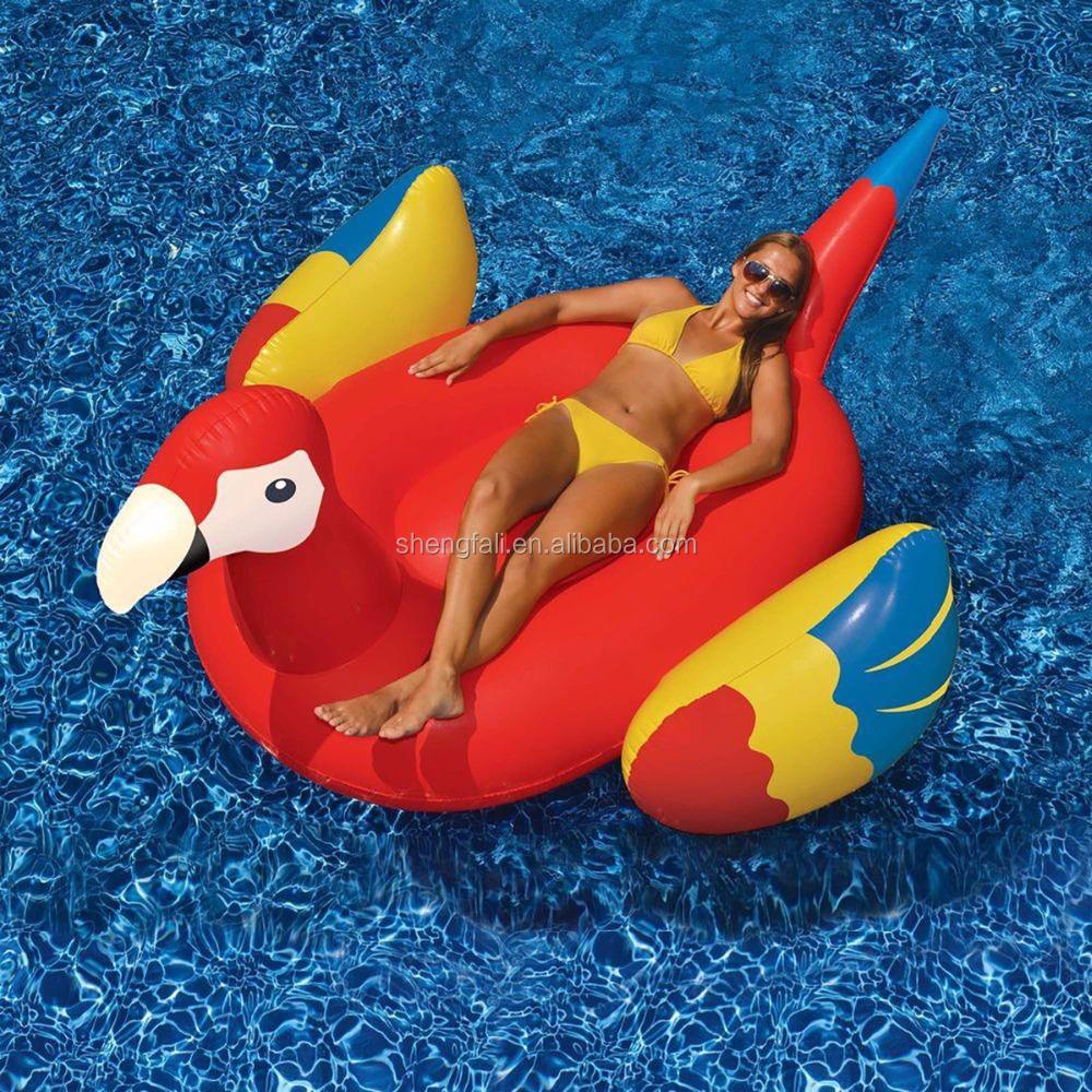 P jaro rojo inflable piscina flotante isla parte balanc n for Flotadores para piscinas