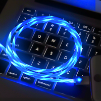 High Speed Visible Flow LED Light Sync Fast Charge Glowing LED USB Cable