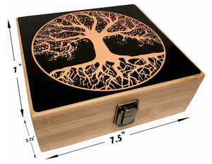 Tree of Live Stash Box and Rolling Tray-Wood Stash Boxes