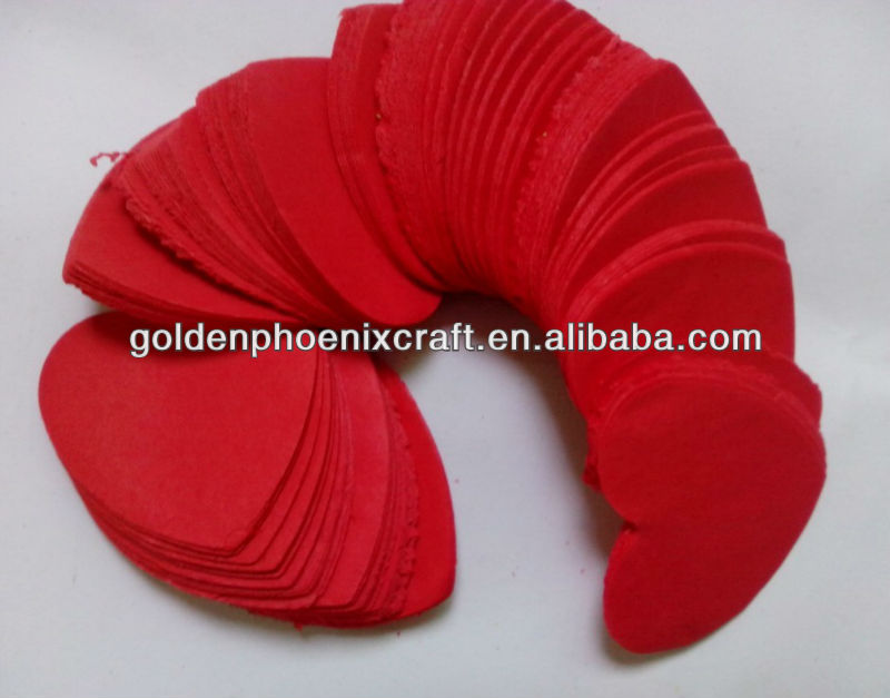 Red Heart Shaped Paper Confetti, Paper Confetti For Wedding