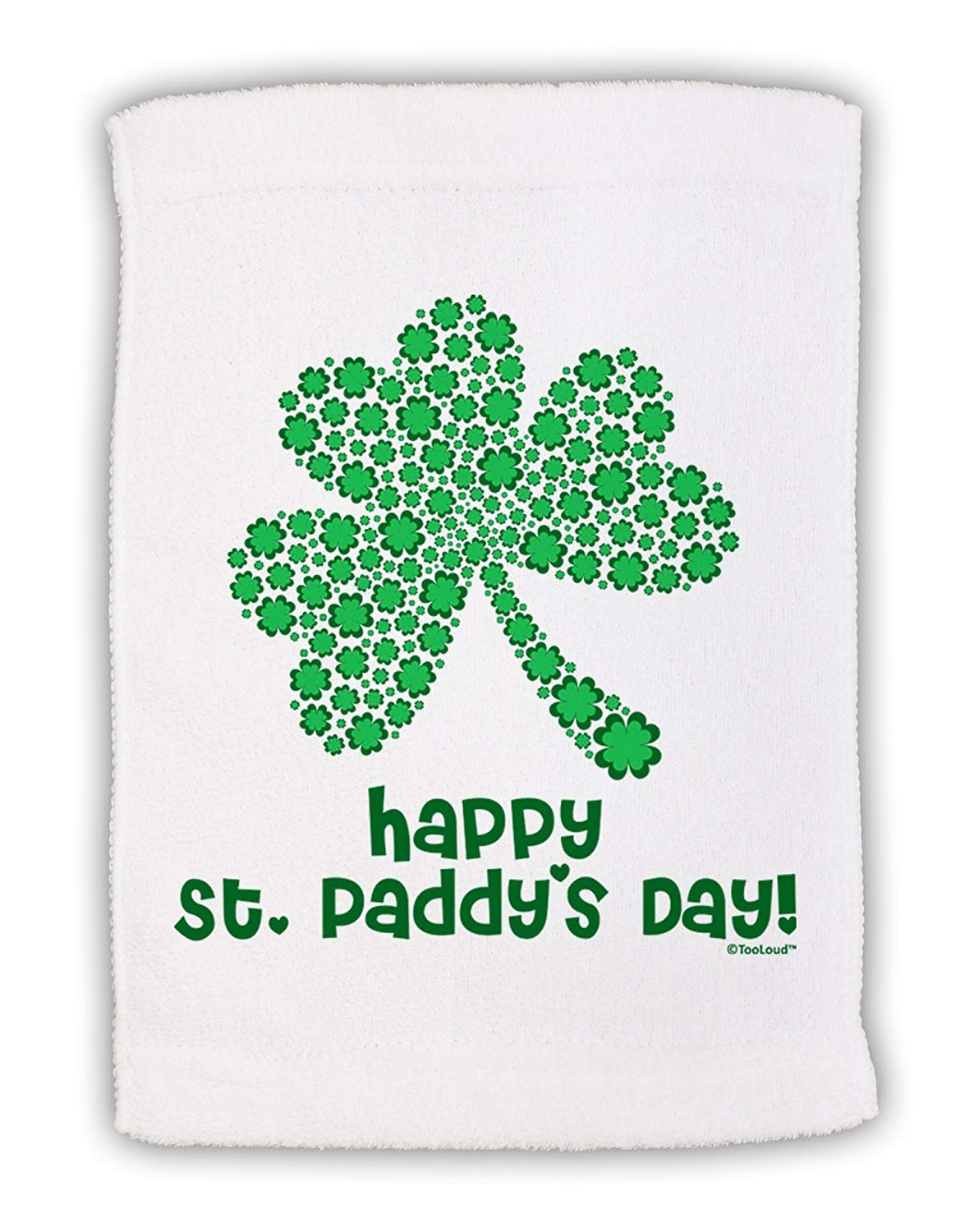 400a79a41b89 Get Quotations · TooLoud Happy St. Paddy's Day Shamrock Design Micro Terry  Sport Towel ...