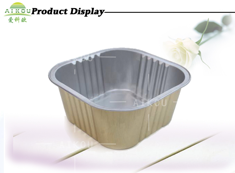 11ounce Aluminum Foil Snack Box For Fast Food Packaging