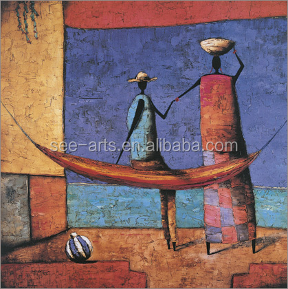 Abstract African Painting Artwork