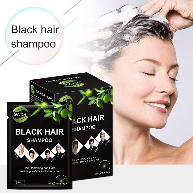 OEM Commercio All'ingrosso di olio di argan capelli neri oscuramento magico dei capelli shampoo
