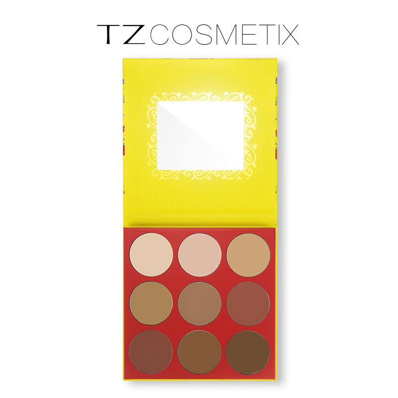 TZ brand 9 Colors Beauty Face Cream Makeup Concealer Palette Contour kit