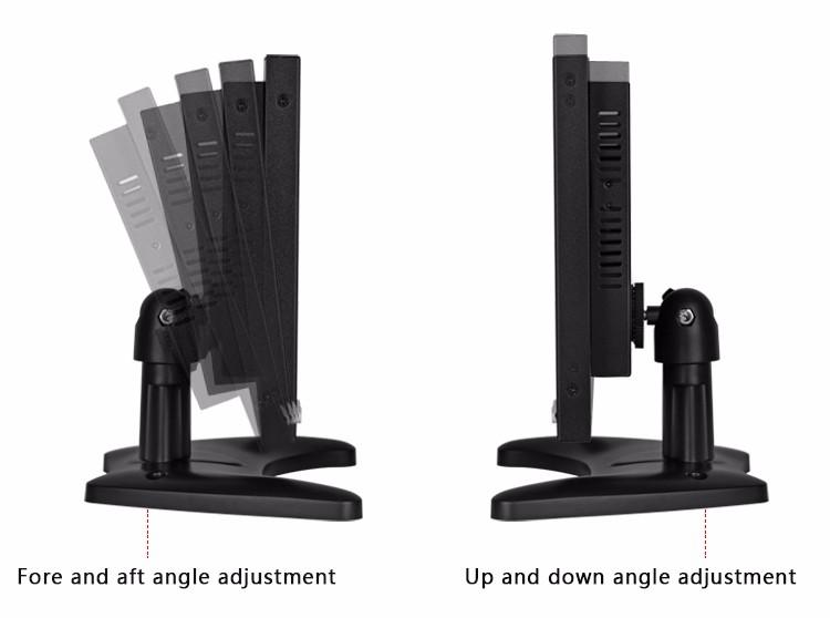 Vesa Mount 1920X1200 EPD Panel 10 inch CCTV Lcd Screen Monitor For Camera  Connect AV BNC HD Input