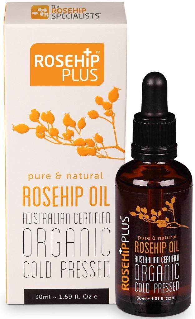 Rosehip Plus Oil Austrlian Certifed Organic Cold Pressed Pure & Natural Rosehip Oil 1.01 Fl Oz