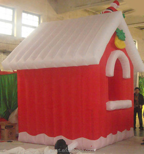 top quality inflatable christmas decorations santa's house