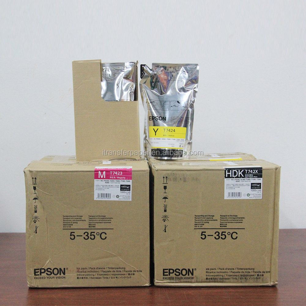 Wide color dye sublimation ink for epson f6280 printer