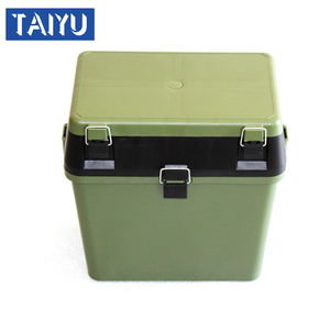 army green ABS plastic fishing tackle seat box fishing equipment box