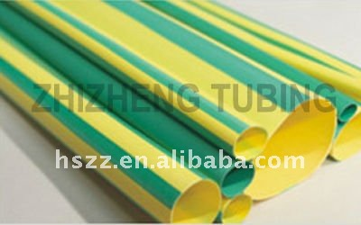 dual wall colorful green yellow heat shrink tube sleeve