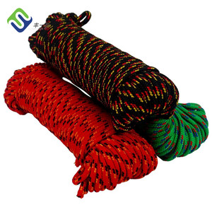 Double braided Polypropylene multifilament rope 10mm with green color