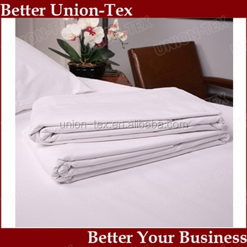 Superbe 400T Plain White Queen Size 5 Star Hotel Egyptian Cotton Bed Sheets  Wholesale