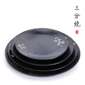 Japanese \u0026 Korean style hand painted matte black ceramic plate dish  sc 1 st  Alibaba & Japanese \u0026 Korean Style Hand Painted Matte Black Ceramic Plate Dish ...
