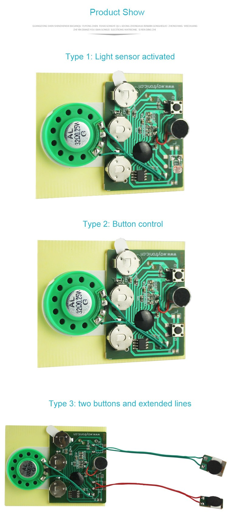 Recordable sound chip with speaker for postcard - SHEN ZHEN