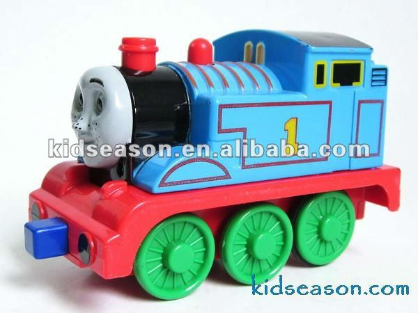 Die-cast pull back toy train