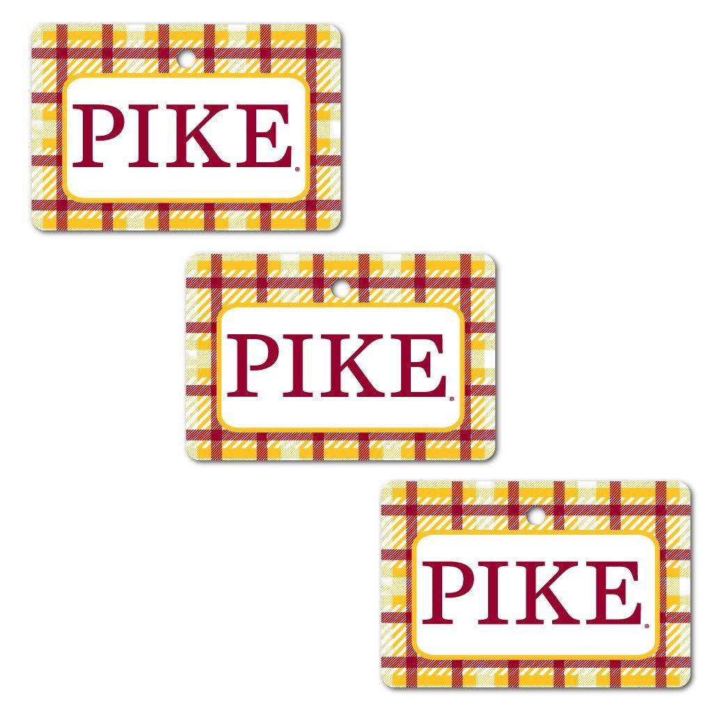 Pi Kappa Alpha Ornament - Set of 3 Rectangle Shapes