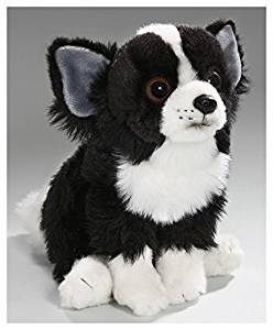 Buy Stuffed Animal Chihuahua Dog Black Sitting 10 Inches 25cm