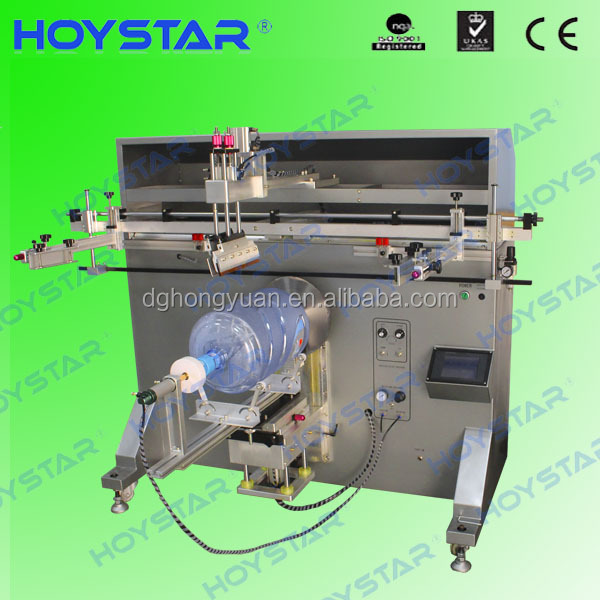 one color plastic paint bucket printing machine/screen printing machine
