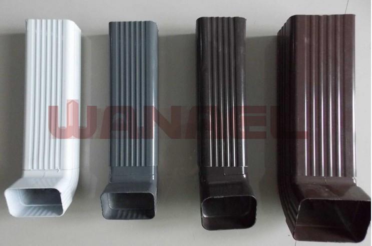 Colorido aluminio canal n de agua de lluvia material de - Canalon aluminio precio ...