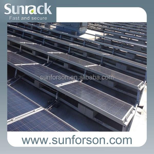 Aluminum Solar Parts Commercial Application Solar Panel Roof Mount System