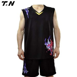 New style sublimated european basketball jerseys