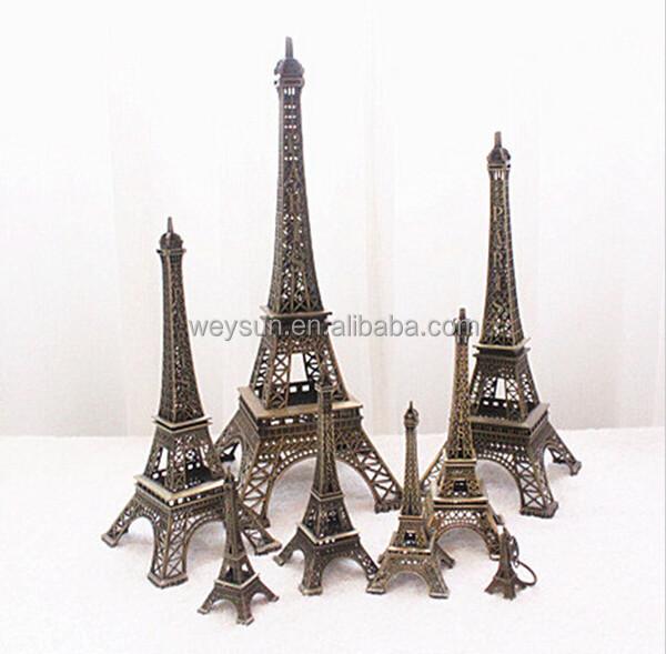 LIOOBO Statue Tour Eiffel M/étal Paris Figurine Tour Eiffel Souvenirs Artisanat D/écoration pour la Maison 25cm