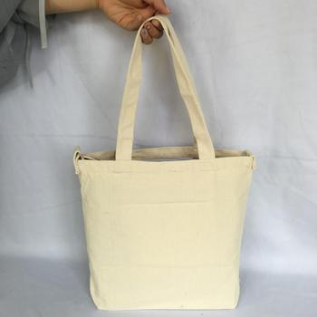 Durable High Quality Wholesale Custom Cotton Canvas Blank Tote Bag