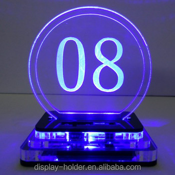 Customised acrylic light up door plate with led