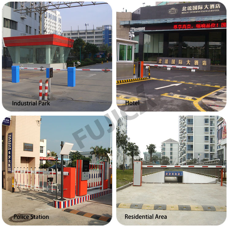 Automatic car parking barrier gate system for apartment