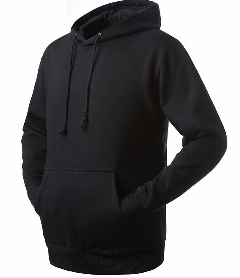 Custom Wholesale Blank Black Hoodies Men Cheap Sports Plain ...