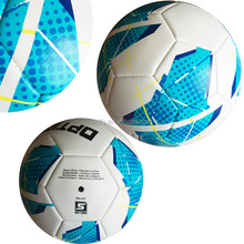 Machine Sewn pink and blue Promotion Training Soccer Ball Football with Custom Logo Printing