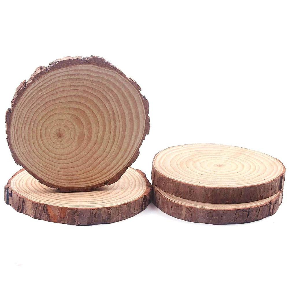 Natural <strong>Wood</strong> Slices Round Rustic <strong>Wood</strong>, Unsanded, 7-9&quot; Diameter (Large) Excellent for Wedding Centerpiece, DIY Woodland Projects