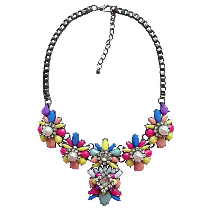 N2016040512 горячая распродажа мода shourouk ожерелье воротник нагрудник радуги ожерелья и подвески колье себе ожерелье для женщин