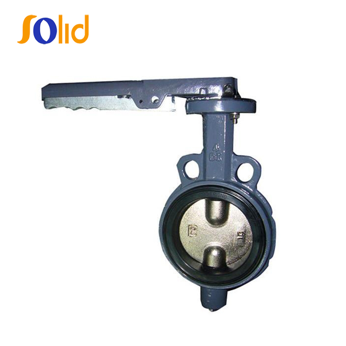 Ductile Iron Wafer softed seated butterfly valve