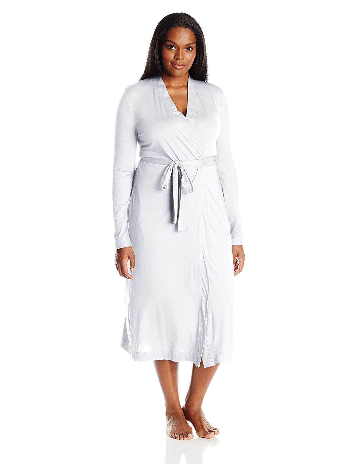 Get Quotations · Yummie by Heather Thomson Womens Plus Size Pima Jersey  Long Robe fd8b75c0f
