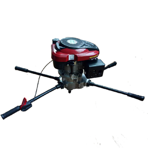 Handheld 4-stroke earth auger soil hole drilling machine