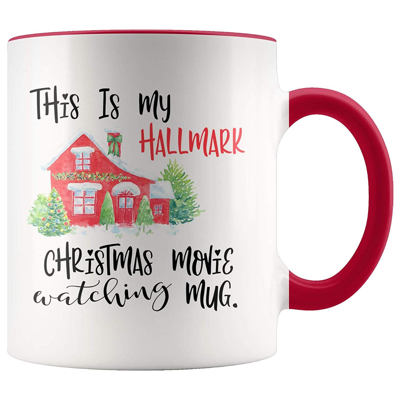 094f9f18605 Get Quotations · Hallmark Movies, Hallmark Christmas Mug, Christmas Mug, Christmas  Gift, Dirty Santa Gift