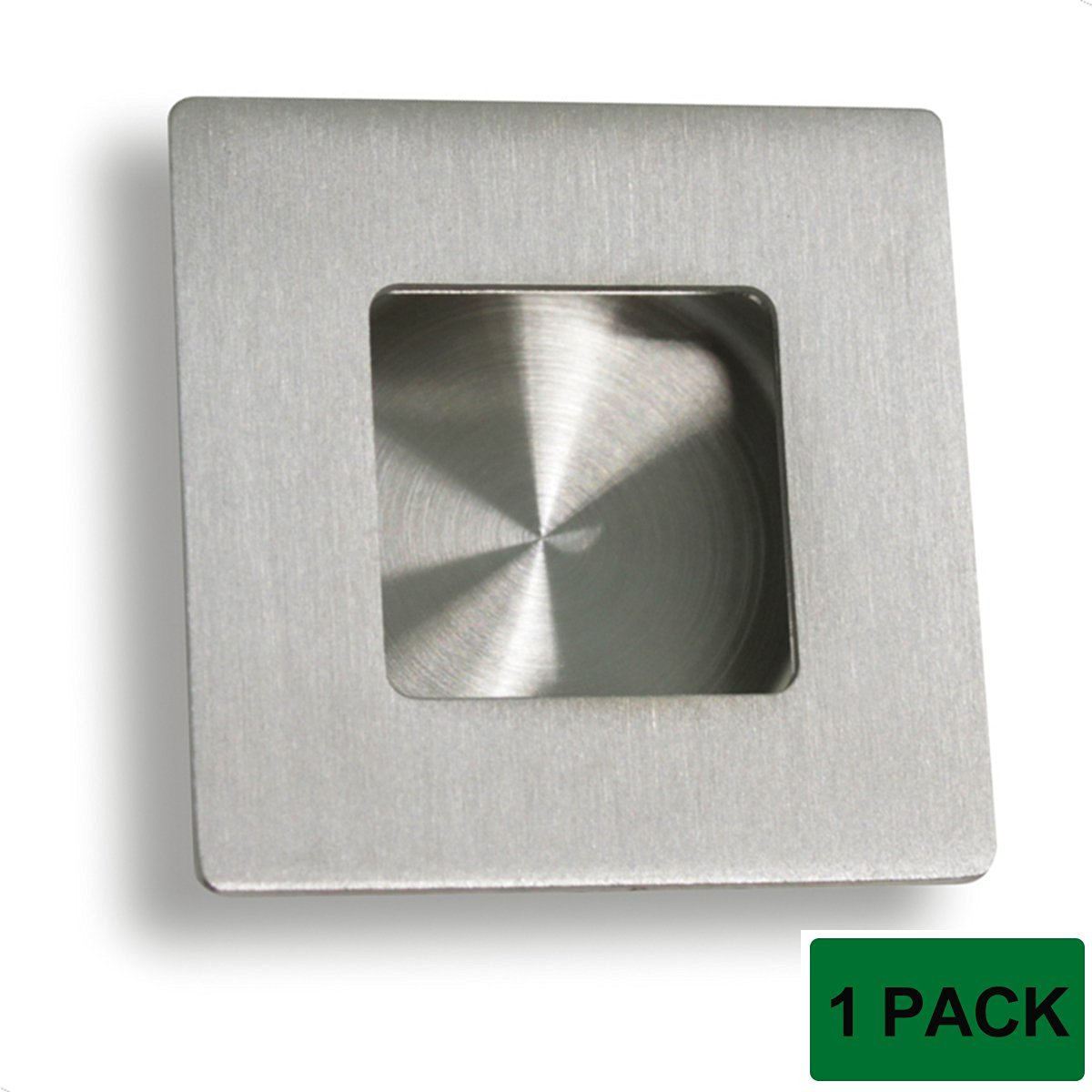 Probrico MH009SS50 Flush Pull Furniture Door Handles Drawer Knobs Square Stainless Steel 50mm 1 Pack