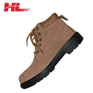 Non-slip men winter PU leather construction army safety shoes