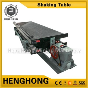 High recovery ratio gold gravel machine zinc ore separator shaking table