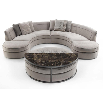 Hotel Villa Furniture High Quality Round Loveseat Sofa Project F020