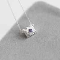 Fashion silver color Hidden camera necklace alloy Long necklace for women hawaiian necklace A022