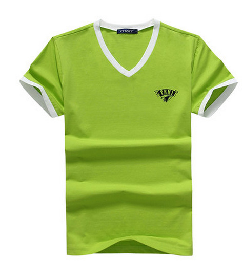 2015 Summer New Arrival Green Color Men's Fashion T-shirt Cool Handsome Men T-Shirt