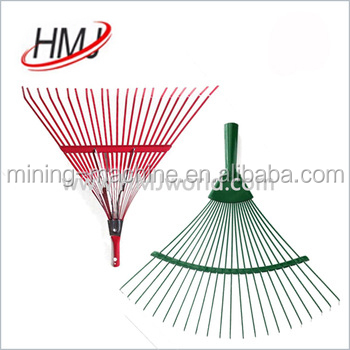 plastic handle material grasscutting and raking machine
